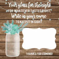 Food Label - Rustic Mason Jar