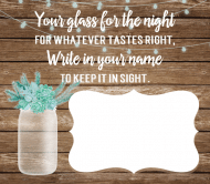 Wedding Beer Label - Rustic Mason Jar