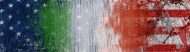 Bumper Sticker - Crackle Paint Italian American Flag