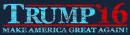Bumper Sticker - Distressed Trump 2016 Make America Great Again