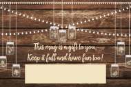 Wedding Mini Wine Label - Twinkling Mason Jars