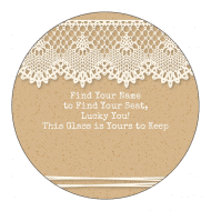 Wedding Sticker - Country Wedding Lace