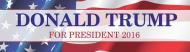Bumper Sticker - Donald Trump For President 2016