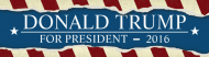 Bumper Sticker - Donald Trump For President 2016 Ripped Paper