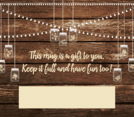 Wedding Beer Label - Twinkling Mason Jars