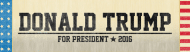 Bumper Sticker - Donald Trump For President 2016 Vintage