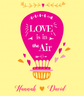 Wedding Wine Label - Love is in the Air