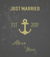 Wedding Wine Label - Anchors Aweigh