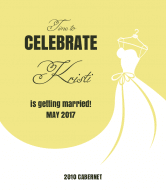 Wedding Wine Label - Yes To The Dress