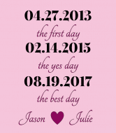 Wedding Wine Label - Best Day Pink