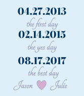 Wedding Wine Label - Best Day Blue