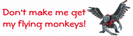 Expressions Bumper Sticker - Flying Monkeys