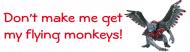 Expressions Bumper Sticker - Flying Monkeys