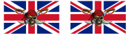 Bumper Sticker - Great Britain Pirate Flag