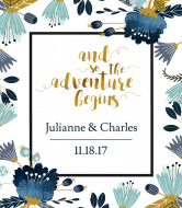 Wedding Wine Label - The Adventure Begins