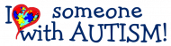 Expressions Bumper Sticker - I Love Someone With Autism