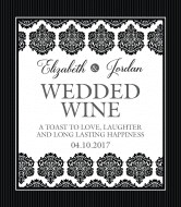 Wedding Wine Label - Black & White
