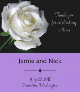 Wedding Wine Label - White Rose