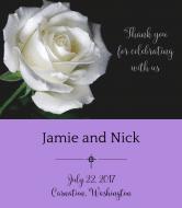 Wedding Wine Label - White Rose