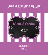 Wedding Wine Label - Bold Stripes