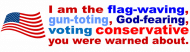 Expressions Bumper Sticker - I Am the Flag Waving