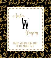 Wedding Wine Label - Avignon