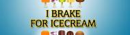 Expressions Bumper Sticker - I Brake For Ice Cream
