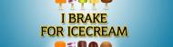 Expressions Bumper Sticker - I Brake For Ice Cream