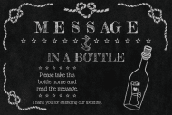 Wedding Mini Wine Label - Message in a Bottle