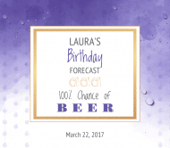 Birthday Beer Label - Birthday Forecast