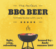 Celebration Beer Label - BBQ
