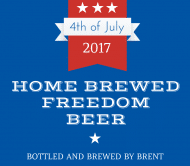 Holiday Beer Label - 4th of July BBQ