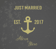 Wedding Beer Label - Anchors Aweigh