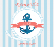 Wedding Beer Label - Nautical Wedding