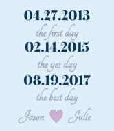 Wedding Champagne Label - Best Day Blue