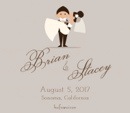Wedding Beer Label - Happy Couple