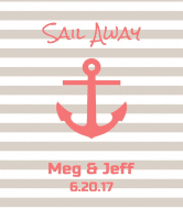 Wedding Champagne Label - Anchors Away