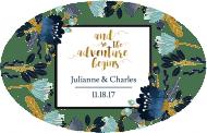 Wedding Sticker - The Adventure Begins