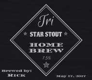 Expressions Beer Label - Tri Star Stout