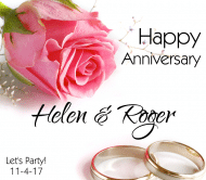 Anniversary Beer Label - Rings and Rose