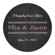 Wedding Sticker - Chalkboard