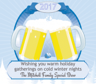 Holiday Beer Label - Winter Nights