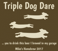 Beer Label - Triple Dog Dare