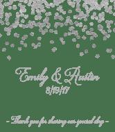 Wedding Wine Label - Silver Confetti