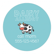 Sticker - Dairy Allergy