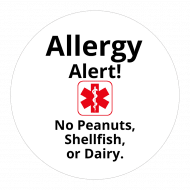 Sticker - Allergy Alert