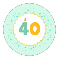 Birthday Sticker - Bright Birthday