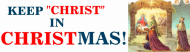 Holiday Bumper Sticker - Keep Christ In Christmas