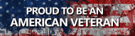 Expressions Bumper Sticker - Proud To Be An American Veteran