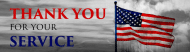 Expressions Bumper Sticker - Red White And Blue American Flag Photo Thank You